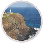 Lone Sentry Round Beach Towel by Suzanne Luft