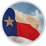 Lone Star Flag Round Beach Towel