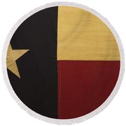 Lone Star Proud Round Beach Towel