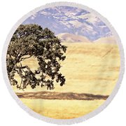 Lone Tree Round Beach Towel by Caitlyn  Grasso