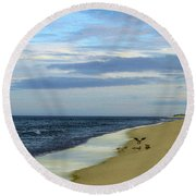Lonely Cape Cod Beach Round Beach Towel