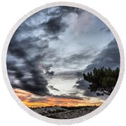 Round Beach Towel featuring the photograph Lonely Tree by Okan YILMAZ