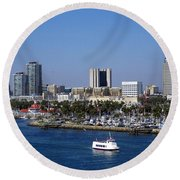 Long Beach Round Beach Towel