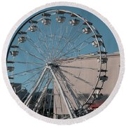 Round Beach Towel featuring the photograph Long Beach In Technicolor by Clayton Bruster