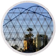 Round Beach Towel featuring the photograph Long Beach Lines by Clayton Bruster
