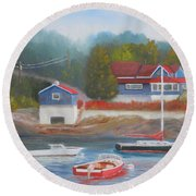Long Cove Round Beach Towel