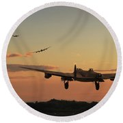 Long Night Ahead Round Beach Towel by Pat Speirs