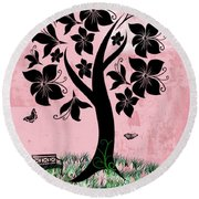 Longing For Spring Round Beach Towel