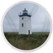 Longpoint Lighthouse Round Beach Towel