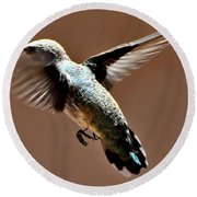 Round Beach Towel featuring the photograph Look At My Crazy Crows Feet by Jay Milo