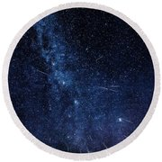 Look To The Heavens Round Beach Towel