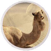 Looking At Ya Round Beach Towel