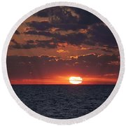 Round Beach Towel featuring the photograph Looking Back In Time by Daniel Sheldon