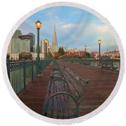 Round Beach Towel featuring the photograph Looking Back by Jonathan Nguyen