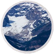 Looking Down At Lake Louise #2 Round Beach Towel