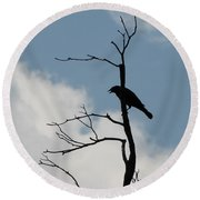 Round Beach Towel featuring the photograph Looking Down On Me  by Michael Krek