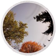 Looking Down On Us Round Beach Towel by Photographic Arts And Design Studio
