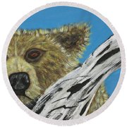 Round Beach Towel featuring the photograph Looking For Supper by Jeffrey Koss