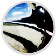 Round Beach Towel featuring the photograph Looking Forward by Paul Job