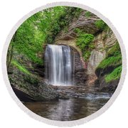 Looking Glass Falls Round Beach Towel