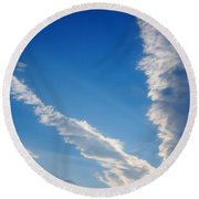 Looking Up Round Beach Towel
