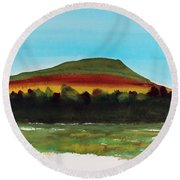 Round Beach Towel featuring the painting Lookout Mountain Tn by Frank Bright