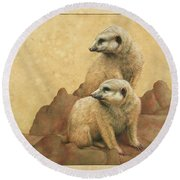 Lookouts Round Beach Towel by James W Johnson