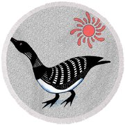 Loon And Sun Round Beach Towel