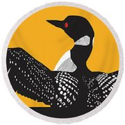 Loon Lake Round Beach Towel by Derrick Higgins