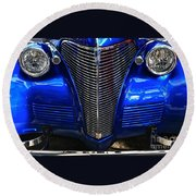 1930's Chevy Custom Round Beach Towel