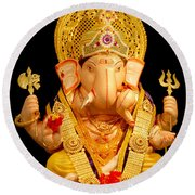 Lord Ganesha Round Beach Towel