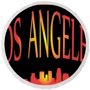 Los Angeles Round Beach Towel