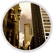 Los Angeles Downtown Round Beach Towel
