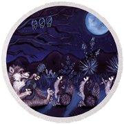 Los Cantantes Or The Singers Round Beach Towel