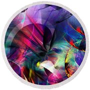 Lost In Hyperspace Round Beach Towel by David Lane