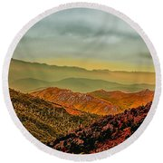 Round Beach Towel featuring the photograph Lost In Time by Wallaroo Images