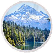 Lost Lake Morning Round Beach Towel