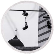 Lost Soles - Urban Metaphors Round Beach Towel by Steven Milner