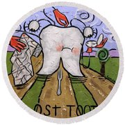 Lost Tooth Round Beach Towel