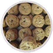 Lotta Cookies Round Beach Towel by Kevin Caudill