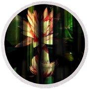 Lotus Bamboo  Round Beach Towel