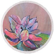 Lotus Iv Round Beach Towel