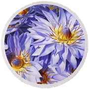 Lotus Light - Hawaiian Tropical Floral Round Beach Towel