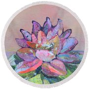 Lotus V Round Beach Towel