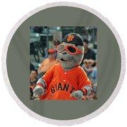 Lou Seal San Francisco Giants Mascot Round Beach Towel