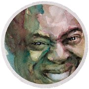 Louis Armstrong Round Beach Towel by Laur Iduc