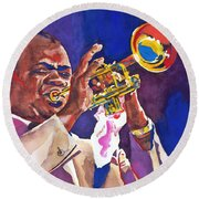 Louis Satchmo Armstrong Round Beach Towel