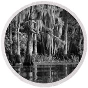 Louisiana Bayou Round Beach Towel