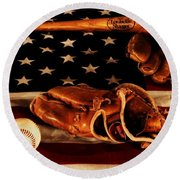 Louisville Slugger Round Beach Towel by Dan Sproul