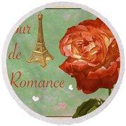 Love And Romance Round Beach Towel
